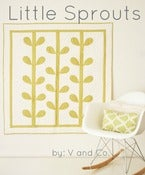 Image of sprout quilt-PAPER PATTERN by V and Co.
