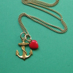 Image of Cheeky Little Sailor Anchor Necklace (various colours)