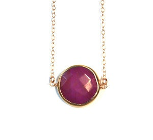 Image of Plum Turquoise Gemstone Necklace