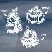 Image of Pumpkin Mascot White Vinyl Decal