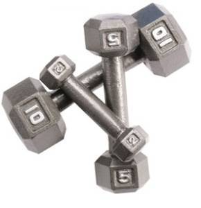 Image of USED Steel Hex Dumbbells