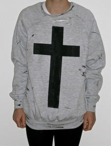"Image of MEDIUM SWEATSHIRT ""SIMPLE CROSS"""