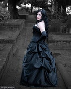 Image of  Elegant Belle Victorian Steampunk Bustle Skirt Black