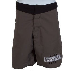 "Image of Ground Fighter ""Belt Stripes"" Fight Shorts - Grey"