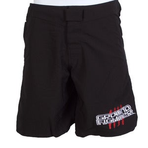 "Image of Ground Fighter ""Belt Stripes"" Fight Shorts - Black"