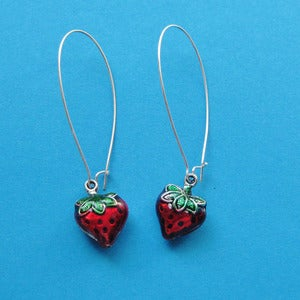 Image of Strawberry Loop Earrings