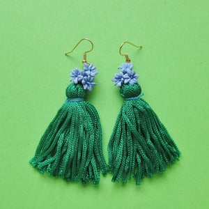 Image of Forget Me Not Tassel Earrings 50% Off!