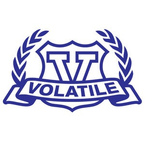 Image of Volatile Crest Logo Vinyl Decal