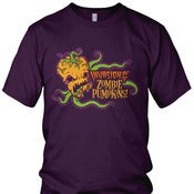 Image of Invasion of the Zombie Pumpkins! T-Shirt (purple) (Unisex)