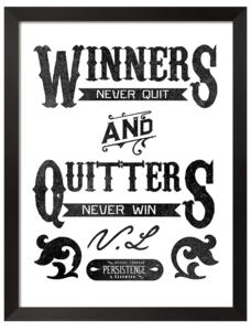 Image of WINNERS NEVER QUIT (PRINT)