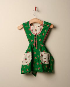 Image of c. 1970s floral mix and match pinafore dress