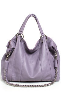 Image of 'Lavender Easter' Leather Chain Detail Satchel