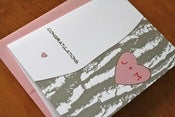 Image of Customized Tree Initials Card - Pink
