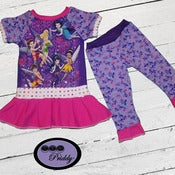 Image of **SOLD OUT** Tinkerbell Pixie Dust Dress and Leggings Set - Size 2T