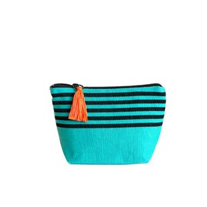 Image of Small Tassel Bag Turquoise/Black