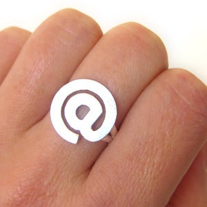 Image of The @ At Sign Ring - Handmade Silver Ring