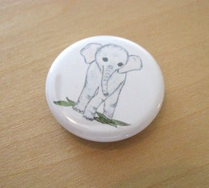 "Image of Baby Elephant Magnet, Small 1 1/4"" Round"