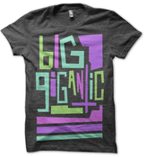 Image of Big Gigantic Multicolor Charcoal Tee