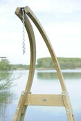 Image of AMAZONAS 'Atlas' wooden stand for hanging chairs - Use indoors or outdoors.