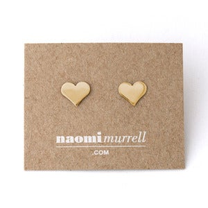 Image of Heart Studs | Golden