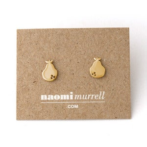 Image of Pear Studs | Golden {10% OFF + FREE SHIPPING}