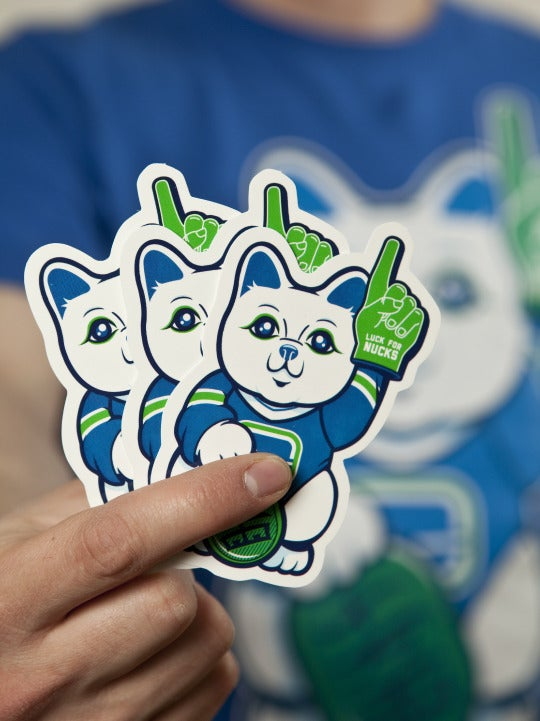Image of LUCK FOR NUCKS STICKERS