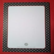 Image of Black & White Polka-Dot Notepad