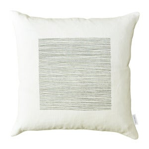 Image of White Lines Pillow Cover