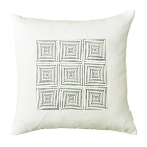 Image of White Squares Pillow Cover