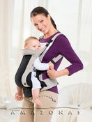 Image of AMAZONAS Carry Star baby carrier. 5 settings. Front or back carrying.