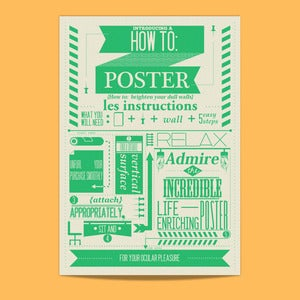Image of Vintage Type Print - How To: Poster 1st Edition