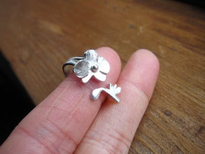 Image of Orchid - Flower Ring - Handmade Sterling Silver Ring