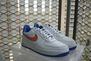 "Image of Nike Air Force 1 Low co.jp exclusive ""KNICKS"" size 9"