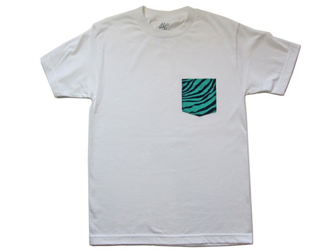 Image of Teal Zebra - Pocket Tee