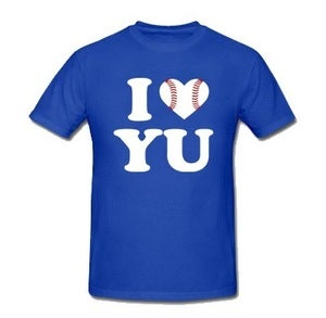 Image of I Love Yu Darvish (Blue w/ Baseball Heart)