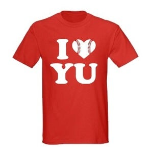 Image of I Love Yu Darvish (Red w/ Baseball Heart)