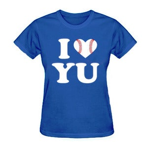 Image of *Women's Fit* I Love Yu Darvish (Blue w/ Baseball Heart)