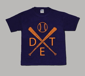 Image of Kids Detroit Baseball Tee