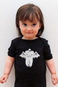 Image of Bat Tooth Onesie in Black