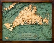 Image of Martha's Vineyard, MA Wood Map