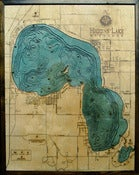 Image of Higgins Lake, MI Wood Map