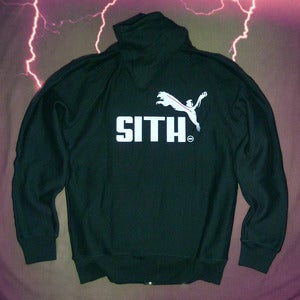 "Image of 2013 CLEARANCE SPECIAL ""Brand Wars: Sith Overlord"" - Black hoody in men's 2XL ONLY"
