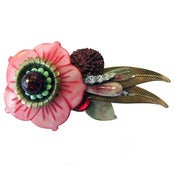 Image of Pink Flower Barrette by Joli Jewelry