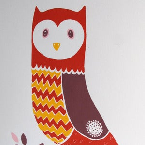 Image of Print Tylluan - <em>Owl Screen Print</em>
