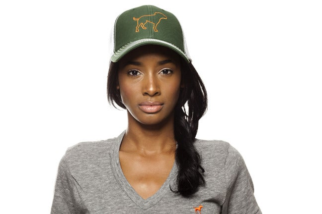 Image of GIRLS ORANGE TINY TIM TRUCKER HAT