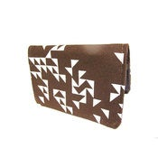 Image of Triangles ) Brown ) Slim Wallet