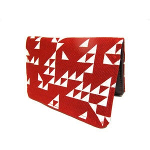 Image of Triangles ) Red ) Slim Wallet