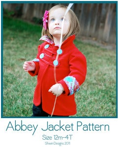 Image of Abbey Jacket Pattern Sizes 12m-4T