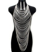 Image of Body Chain w/ Matching Earrings (Silver or Gold)
