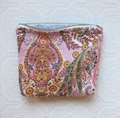 Image of Pink Paisley Cosmetic Bag
